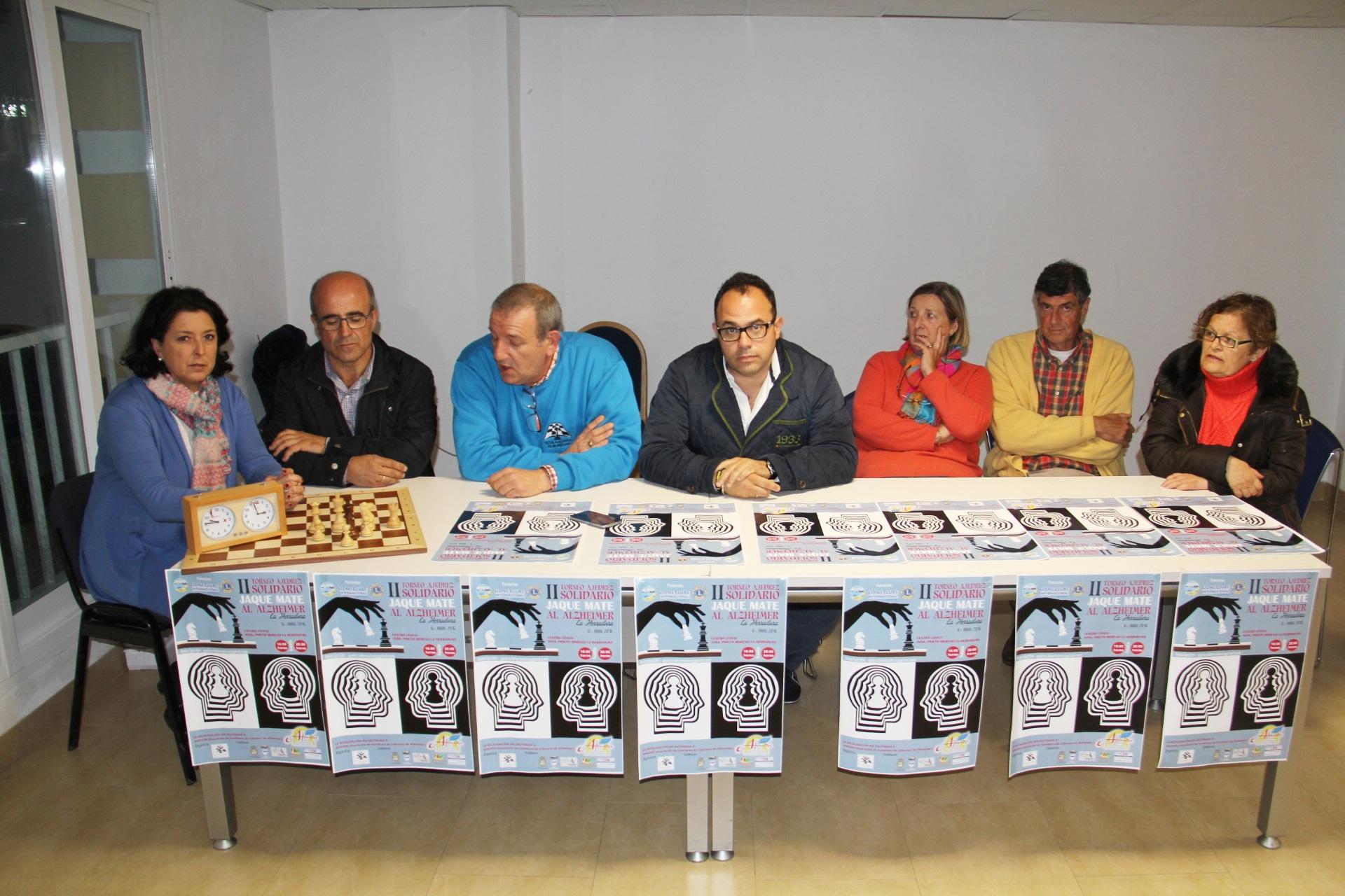 ACTO PRESENTACION TORNEO AJEDREZ SOLIDARIO A BENEFICIO DE AFAVIDA EN LA HERRADURA 16