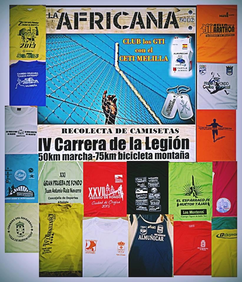 CAMPA+æA RECOLECTA DE CAMISETAS DE LOS ATLETAS DEL CLUB LOS GTI 16